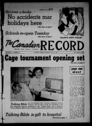 Primary view of object titled 'The Canadian Record (Canadian, Tex.), Vol. 72, No. 52, Ed. 1 Thursday, December 28, 1961'.