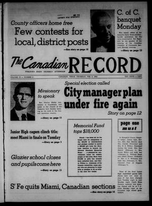 The Canadian Record (Canadian, Tex.), Vol. 73, No. 6, Ed. 1 Thursday, February 8, 1962