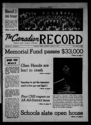 Primary view of object titled 'The Canadian Record (Canadian, Tex.), Vol. 73, No. 9, Ed. 1 Thursday, March 1, 1962'.
