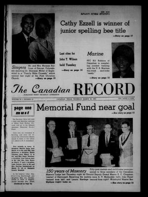 Primary view of object titled 'The Canadian Record (Canadian, Tex.), Vol. 73, No. 12, Ed. 1 Thursday, March 22, 1962'.