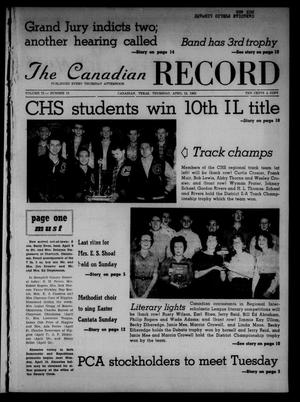 Primary view of object titled 'The Canadian Record (Canadian, Tex.), Vol. 73, No. 15, Ed. 1 Thursday, April 12, 1962'.