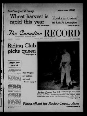 Primary view of object titled 'The Canadian Record (Canadian, Tex.), Vol. 73, No. 24, Ed. 1 Thursday, June 14, 1962'.