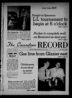 Primary view of object titled 'The Canadian Record (Canadian, Tex.), Vol. 73, No. 29, Ed. 1 Thursday, July 19, 1962'.