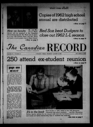 Primary view of object titled 'The Canadian Record (Canadian, Tex.), Vol. 73, No. 32, Ed. 1 Thursday, August 9, 1962'.