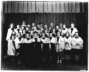 Primary view of object titled '[Weatherford College Chorus, c. 1940]'.