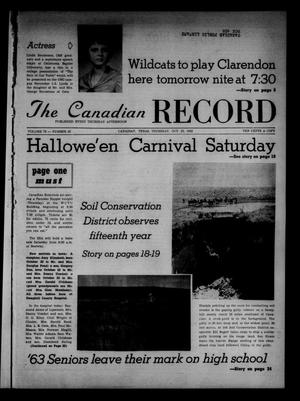 Primary view of object titled 'The Canadian Record (Canadian, Tex.), Vol. 73, No. 43, Ed. 1 Thursday, October 25, 1962'.