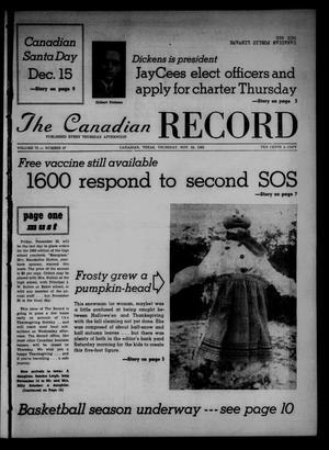 The Canadian Record (Canadian, Tex.), Vol. 73, No. 47, Ed. 1 Thursday, November 22, 1962