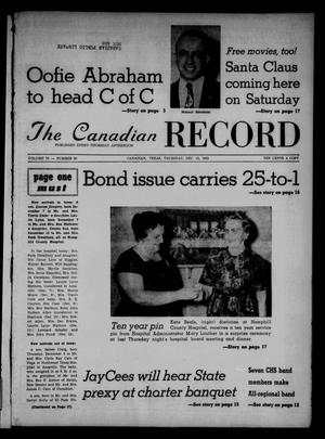 Primary view of object titled 'The Canadian Record (Canadian, Tex.), Vol. 73, No. 50, Ed. 1 Thursday, December 13, 1962'.