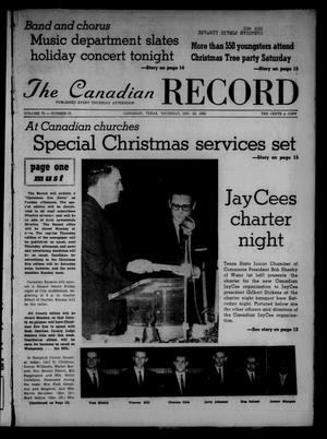 Primary view of object titled 'The Canadian Record (Canadian, Tex.), Vol. 73, No. 51, Ed. 1 Thursday, December 20, 1962'.