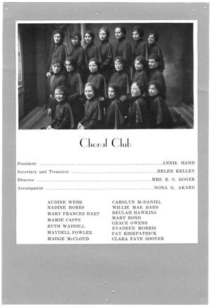 Primary view of object titled '[Weatherford College Choral Club, 1924]'.