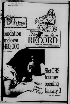 Primary view of object titled 'The Canadian Record (Canadian, Tex.), Vol. 90, No. 52, Ed. 1 Monday, December 24, 1979'.