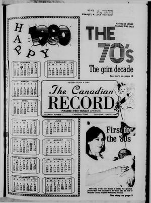 Primary view of object titled 'The Canadian Record (Canadian, Tex.), Vol. 91, No. 1, Ed. 1 Thursday, January 3, 1980'.