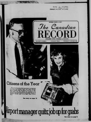 Primary view of object titled 'The Canadian Record (Canadian, Tex.), Vol. 91, No. 3, Ed. 1 Thursday, January 17, 1980'.