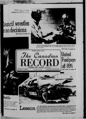 Primary view of object titled 'The Canadian Record (Canadian, Tex.), Vol. 91, No. 4, Ed. 1 Thursday, January 24, 1980'.