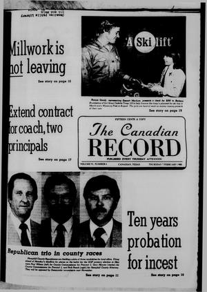 Primary view of object titled 'The Canadian Record (Canadian, Tex.), Vol. 91, No. 6, Ed. 1 Thursday, February 7, 1980'.