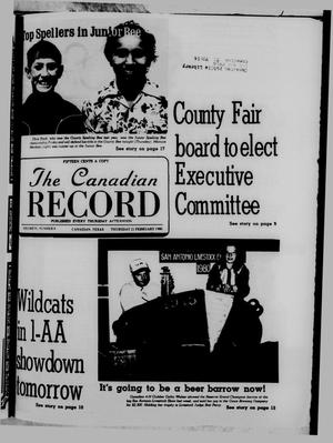 Primary view of object titled 'The Canadian Record (Canadian, Tex.), Vol. 91, No. 8, Ed. 1 Thursday, February 21, 1980'.