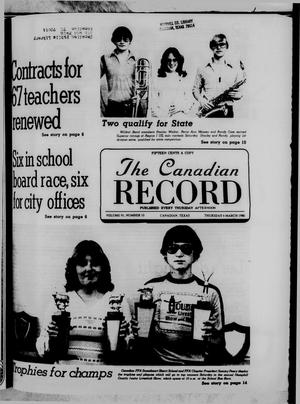 Primary view of object titled 'The Canadian Record (Canadian, Tex.), Vol. 91, No. 10, Ed. 1 Thursday, March 6, 1980'.