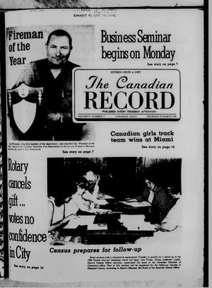 Primary view of object titled 'The Canadian Record (Canadian, Tex.), Vol. 91, No. 12, Ed. 1 Thursday, March 20, 1980'.