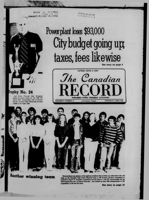 Primary view of object titled 'The Canadian Record (Canadian, Tex.), Vol. 91, No. 14, Ed. 1 Thursday, April 3, 1980'.