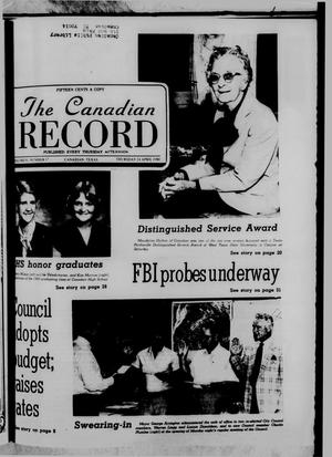 Primary view of object titled 'The Canadian Record (Canadian, Tex.), Vol. 91, No. 17, Ed. 1 Thursday, April 24, 1980'.
