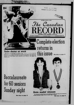 Primary view of object titled 'The Canadian Record (Canadian, Tex.), Vol. 91, No. 19, Ed. 1 Thursday, May 8, 1980'.