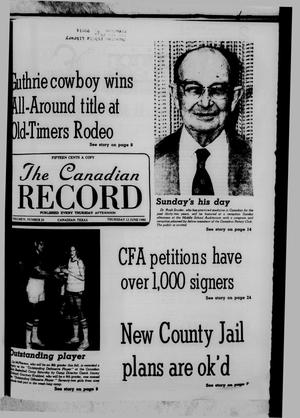 Primary view of object titled 'The Canadian Record (Canadian, Tex.), Vol. 91, No. 24, Ed. 1 Thursday, June 12, 1980'.