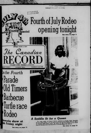 Primary view of object titled 'The Canadian Record (Canadian, Tex.), Vol. 91, No. 27, Ed. 1 Thursday, July 3, 1980'.