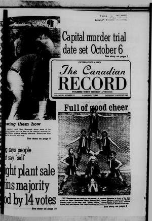 Primary view of object titled 'The Canadian Record (Canadian, Tex.), Vol. 91, No. 33, Ed. 1 Thursday, August 14, 1980'.