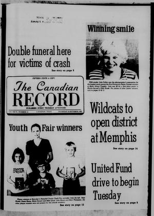 Primary view of object titled 'The Canadian Record (Canadian, Tex.), Vol. 91, No. 42, Ed. 1 Thursday, October 16, 1980'.