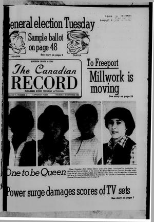 Primary view of object titled 'The Canadian Record (Canadian, Tex.), Vol. 91, No. 44, Ed. 1 Thursday, October 30, 1980'.
