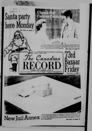 Primary view of object titled 'The Canadian Record (Canadian, Tex.), Vol. 91, No. 49, Ed. 1 Thursday, December 4, 1980'.