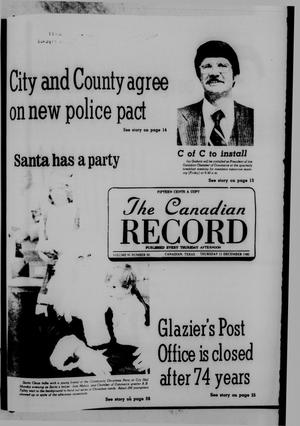 Primary view of object titled 'The Canadian Record (Canadian, Tex.), Vol. 91, No. 50, Ed. 1 Thursday, December 11, 1980'.