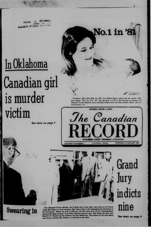 Primary view of object titled 'The Canadian Record (Canadian, Tex.), Vol. 92, No. 2, Ed. 1 Thursday, January 8, 1981'.
