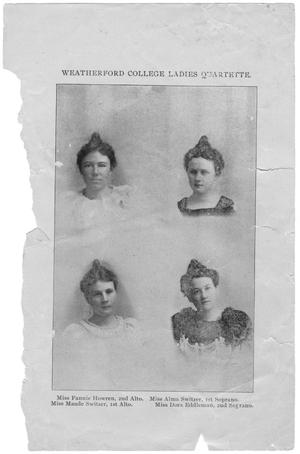 Primary view of object titled '[Ladies (Vocal) Quartette]'.