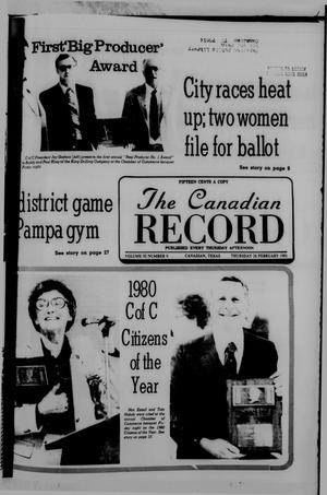 Primary view of object titled 'The Canadian Record (Canadian, Tex.), Vol. 92, No. 9, Ed. 1 Thursday, February 26, 1981'.