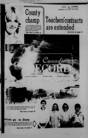 Primary view of object titled 'The Canadian Record (Canadian, Tex.), Vol. 92, No. 10, Ed. 1 Thursday, March 5, 1981'.
