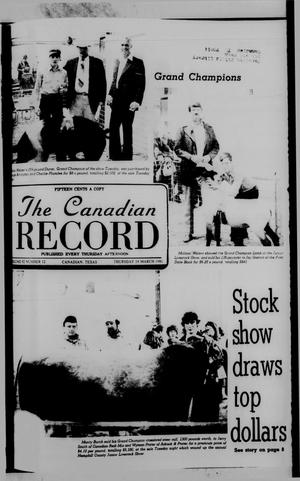 Primary view of object titled 'The Canadian Record (Canadian, Tex.), Vol. 92, No. 12, Ed. 1 Thursday, March 19, 1981'.