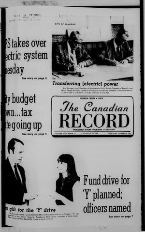 The Canadian Record (Canadian, Tex.), Vol. 92, No. 13, Ed. 1 Thursday, March 26, 1981