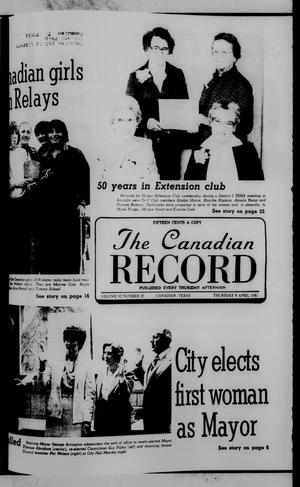 Primary view of object titled 'The Canadian Record (Canadian, Tex.), Vol. 92, No. 15, Ed. 1 Thursday, April 9, 1981'.