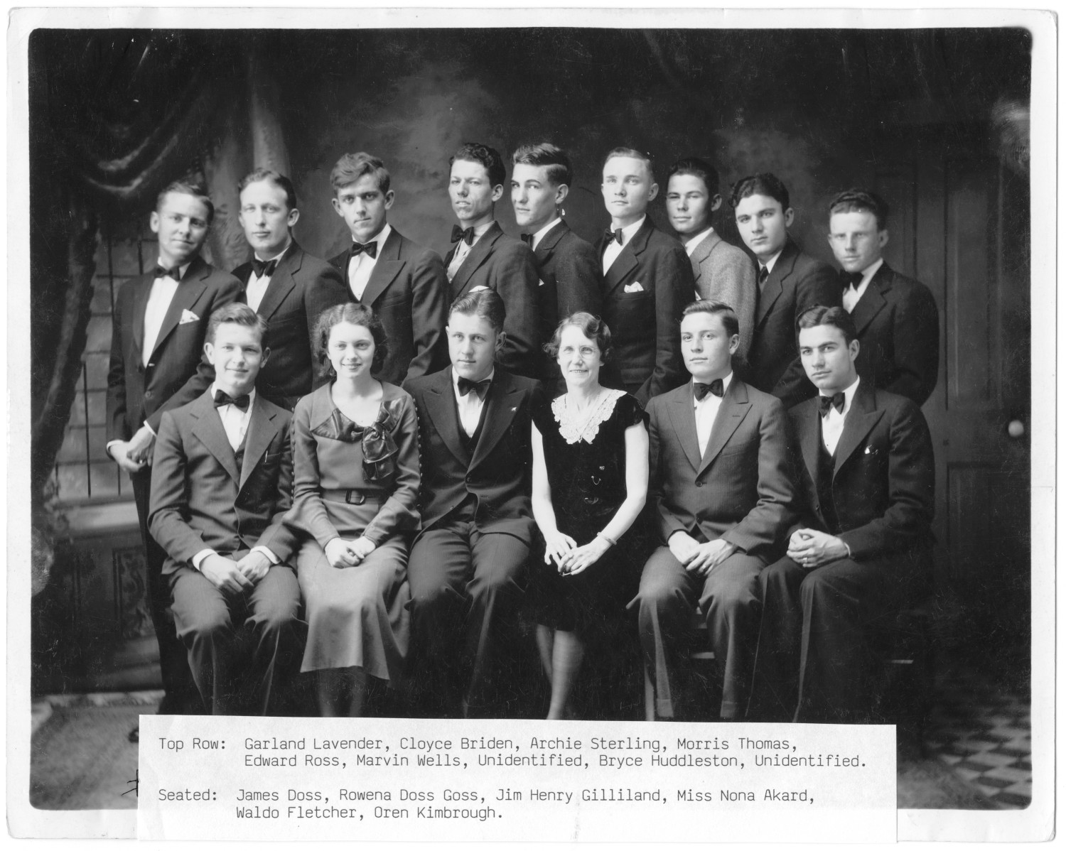 [Weatherford College Glee Club, 1934], Photo of the Weatherford College Glee Club. Photo taken between 1934: Weatherford, Texas.,