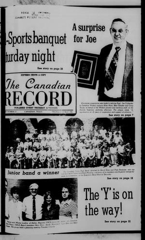 Primary view of object titled 'The Canadian Record (Canadian, Tex.), Vol. 92, No. 20, Ed. 1 Thursday, May 14, 1981'.