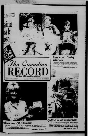 Primary view of object titled 'The Canadian Record (Canadian, Tex.), Vol. 92, No. 23, Ed. 1 Thursday, June 4, 1981'.