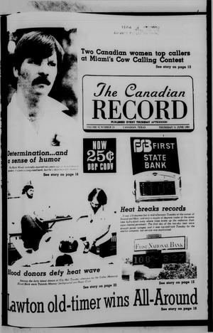 Primary view of object titled 'The Canadian Record (Canadian, Tex.), Vol. 92, No. 24, Ed. 1 Thursday, June 11, 1981'.