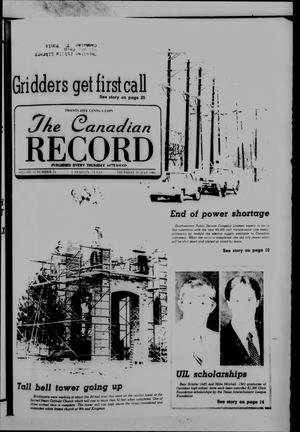 Primary view of object titled 'The Canadian Record (Canadian, Tex.), Vol. 92, No. 31, Ed. 1 Thursday, July 30, 1981'.