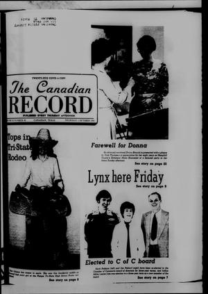 Primary view of object titled 'The Canadian Record (Canadian, Tex.), Vol. 92, No. 40, Ed. 1 Thursday, October 1, 1981'.