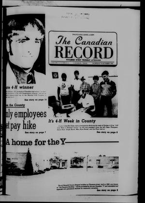 Primary view of object titled 'The Canadian Record (Canadian, Tex.), Vol. 92, No. 41, Ed. 1 Thursday, October 8, 1981'.