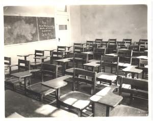 Primary view of object titled '[Classroom Interior, Room 10, Weatherford College]'.