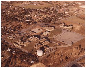 Primary view of object titled '[Aerial view of Weatherford College campus]'.