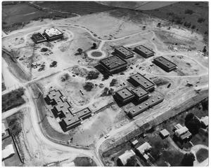 Primary view of object titled '[Aerial view of Weatherford College campus c. 1968]'.