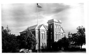 Primary view of object titled '[Old Main, Weatherford College, 1958]'.